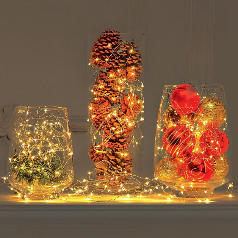 5pcs Light String, 2m Micro Copper Wire 20 LED String Lights Fairy Lights, Battery LED Lights Party Wedding Christmas Decoration