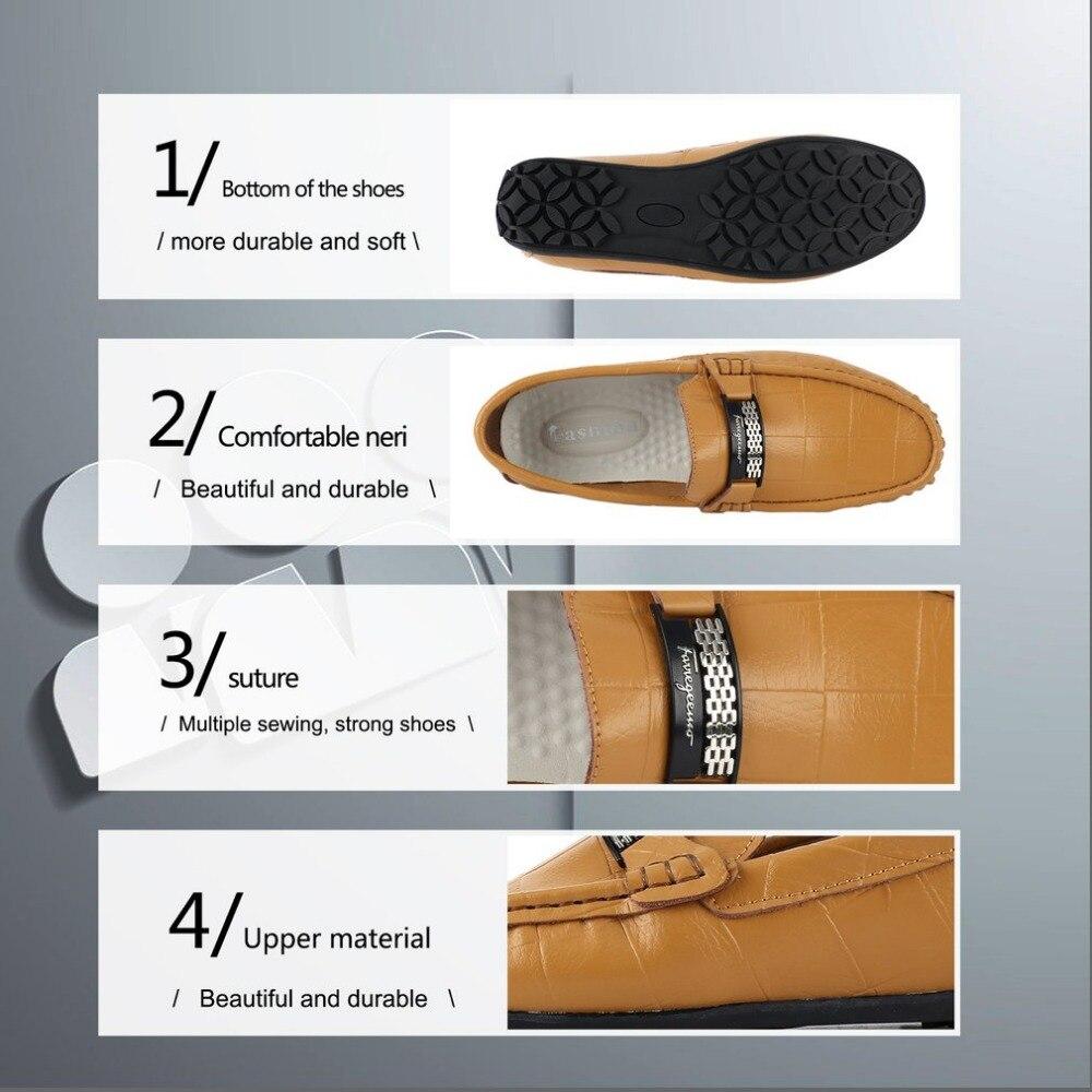 Chaussures Casual De Doux Imitation Mocassin Loisirs Durable Conduite 1 Tout Slip Paire Talon sur Plat Black brown allumette Cuir Hommes Mocassins qzPX15wXx