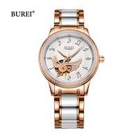 BUREI Gold Sliver Ladies Watch Women Waterproof Sapphire Crystal Automatic Mechanical Wrist Watch Clock Saat Relogio Feminino