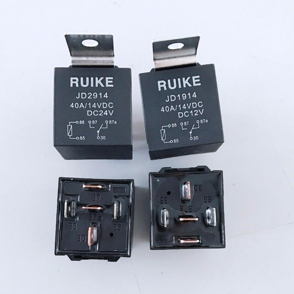 10pcs Auto Car Relay DC 12/24 Volts 40A 1NO+1NC SPDT 5 Pin sg152b dc 24v 130w 3 pin led light fast blink flash auto car flasher relay 5 pcs
