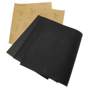 Image 5 - DRELD 5 hojas de papel de lija impermeable papel abrasivo papel de arena herramienta de pulido de molienda de silicona (1xGrit 600 2x1000 1x1500 1x2000)