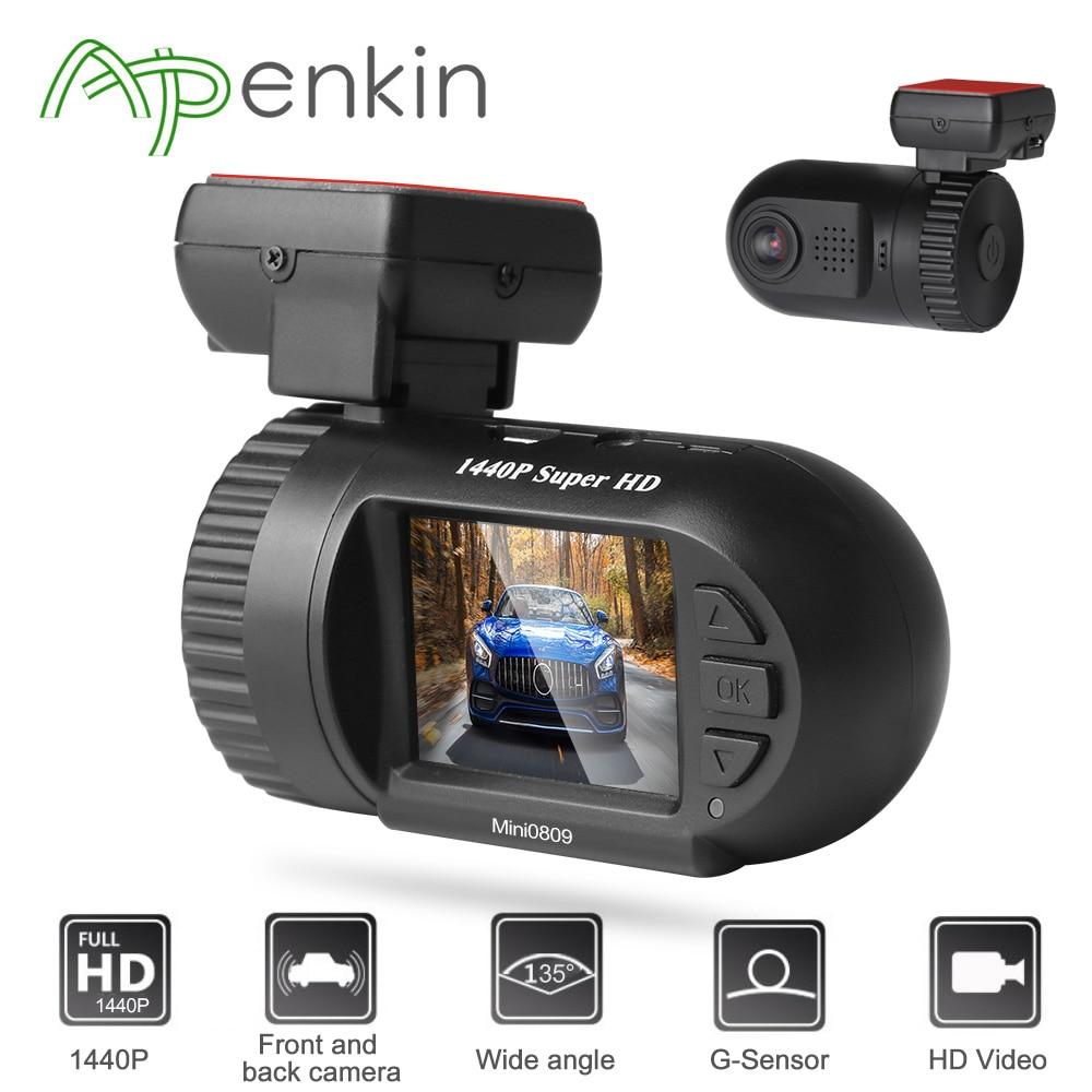 Arpenkin Mini 0809 upgrade mini0805 Dash Cam Car DVR Camera Super HD 1440P Recorder Motion Detection