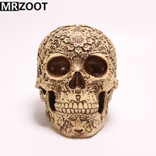 MRZOOT Resin Crafts Punk Gothic Home Decoration or Halloween Personalized Carving Skull Sculpture.