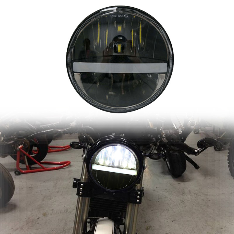 5.75 Inch 883 LED Round Motorcycle Headlight Wide Glide XL1200X FXDX Seventy Two Headlight LED 5 3/4 Headlamp