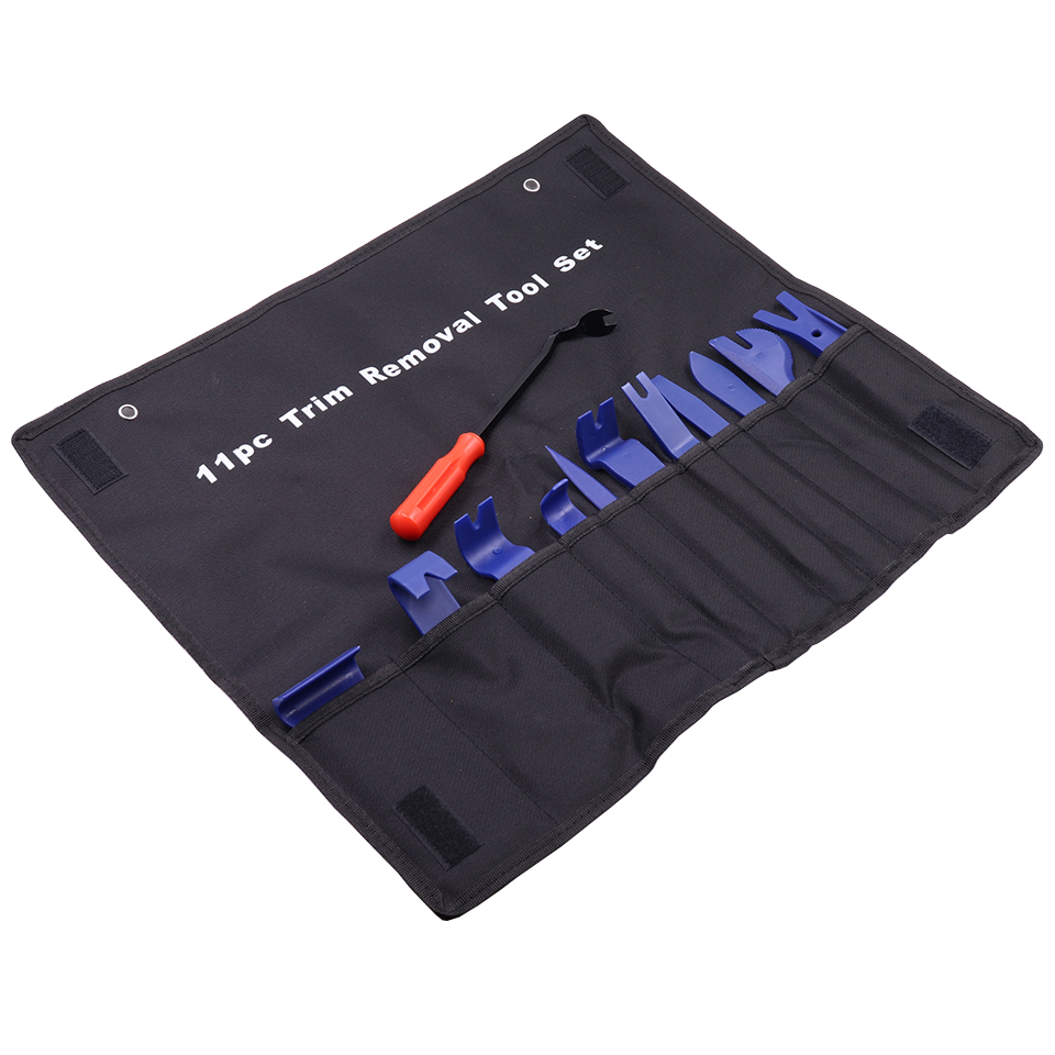High Quality New 11pcs 12pcs Car Trim Removal Tools Set Auto Interior Radio Panel Set Kit Pouch Pry Tool Removal Install Set