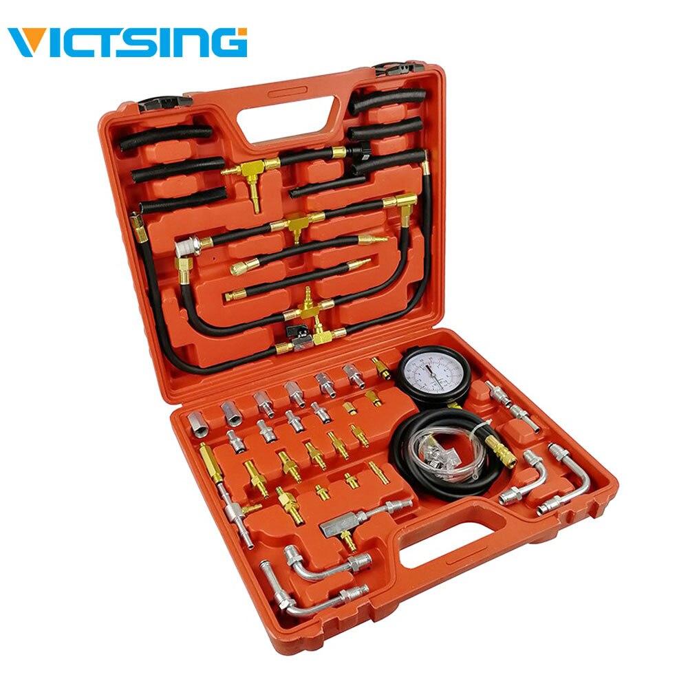 VicTsing TU-443 manomètre pompe d'injection de carburant testeur d'injecteur Kit de jauge d'essai de pression 0-140 PSI outils de manomètres d'huile