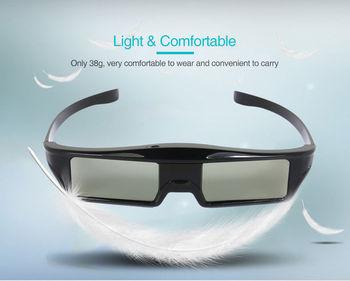 4 Unids/lote HD Bluetooth RF Obturador Activo Tipo 3D Gafas Para Samsung Panasonic EPSON 3D Televisores Sony Android TV