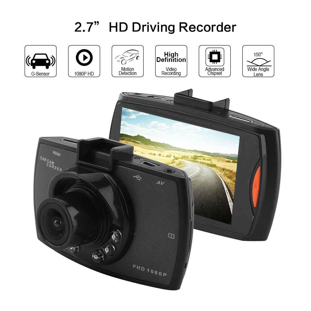 Macchina Fotografica dell'automobile DVR Full HD 1080P 140 Gradi Dashcam Video Registrar per Le Auto di Visione Notturna del G-Sensor Dash cam