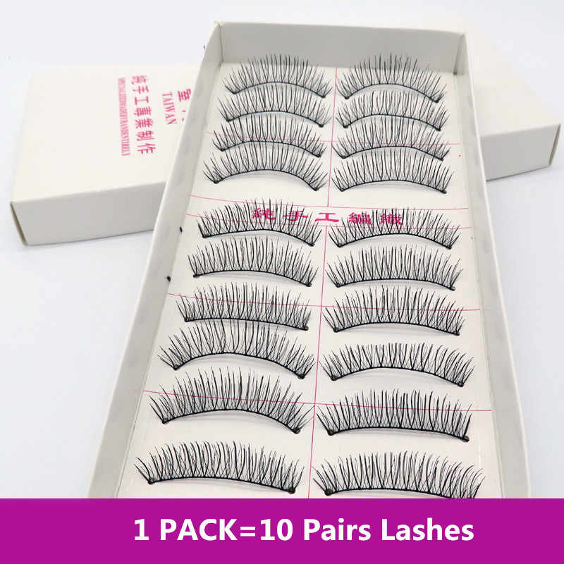 Pretty Long False Eyelashes 10 Pairs Lashes Makeup Natural Fake Thick Eye Lashe Black Nautral Handmade Beauty Tools
