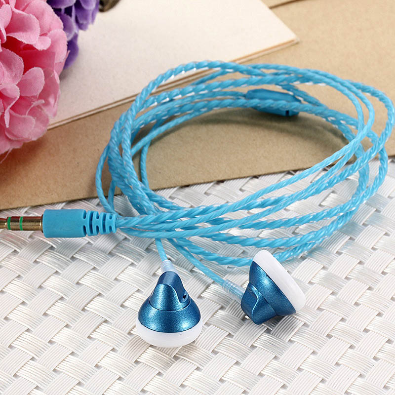 3.5mm Fashion Braided Headset Wired Hifi Earphone With Microphone Portable Audio And Video Device