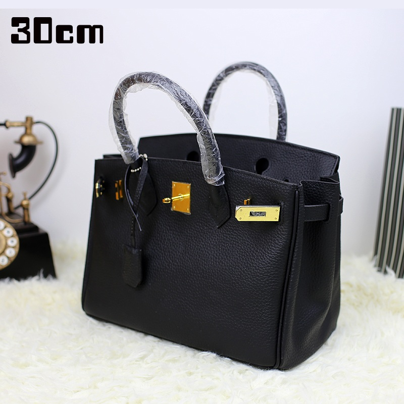 30cm women luxury genuine leather platinum lock handbag shoulder bag real cow leather high quality Lady messenger crossbody bag
