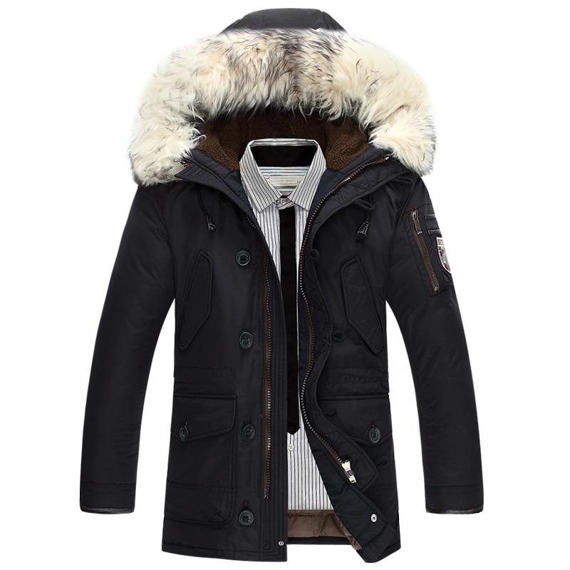 Neue marke winter jacke männer 90% weiße ente unten jacke dicke warm halten männer unten jacke pelz kragen mit kapuze unten jacken mantel männlichen
