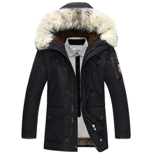 New brand winter jacket men 90% white duck down jacket thick keep warm