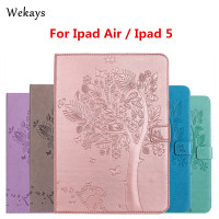 Wekays For IPad Air Case Luxury Cartoon Cat And Tree Leather Flip Case For Apple IPad