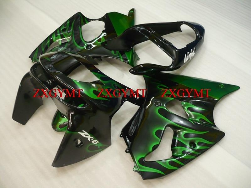 Fairings for Ninja Zx-6r 1998 - 1999 Full Body Kits Ninja Zx-6r 99 Pearl Green Flame Fairings 636 Zx-6r 1998Fairings for Ninja Zx-6r 1998 - 1999 Full Body Kits Ninja Zx-6r 99 Pearl Green Flame Fairings 636 Zx-6r 1998
