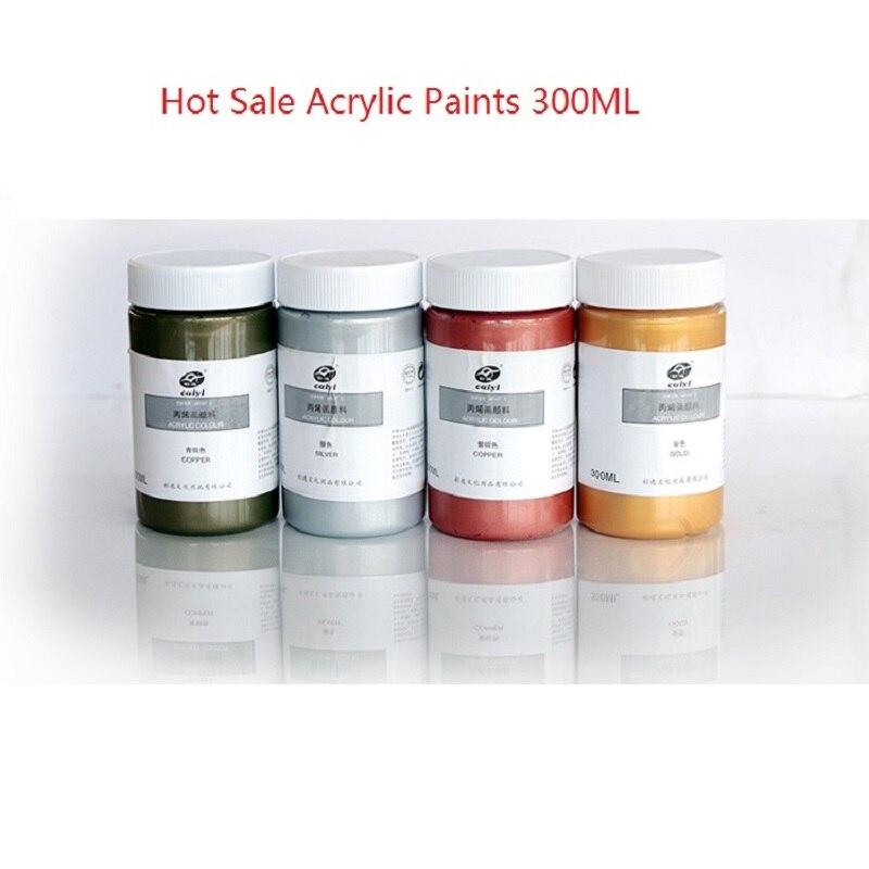 15 51 28 De Réduction Livraison Gratuite 300 Ml Peintures Acryliques Or Argent Bronze Cuivre Peinture Murale Peint à La Main Bricolage Pigment Base