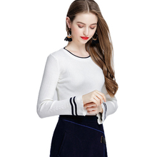 Wool Women Striped Flare Sleeve Fashion Pullover and Sweater Autumn Winter Female Soft Comfortable Warm Slim Christmas Pullovers flare sleeve striped sweater