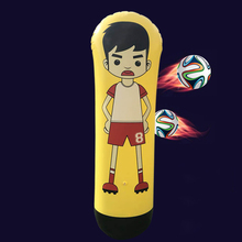 1.6m Inflatable Football Training Goal Keeper Column Stand Tumbler Soccer Train Dummy for Kid Adult MSD-ING