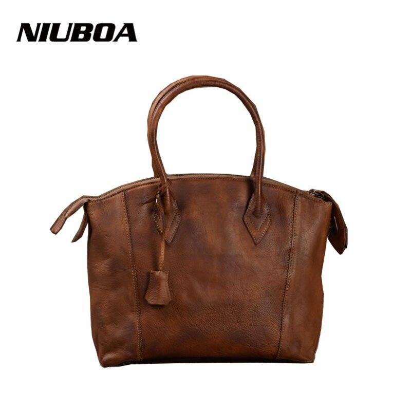 NIUBOA New Leather Handbags Natural 100% Cowhide Shoulder Bag Genuine Leather Cross Body Bags Hobo Tote Women Mssenger Bags niuboa 100