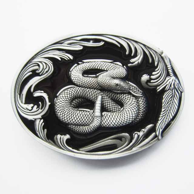 Retail Distribute Wildlife Snake Belt Buckle BUCKLE-WT092BK Free Shipping