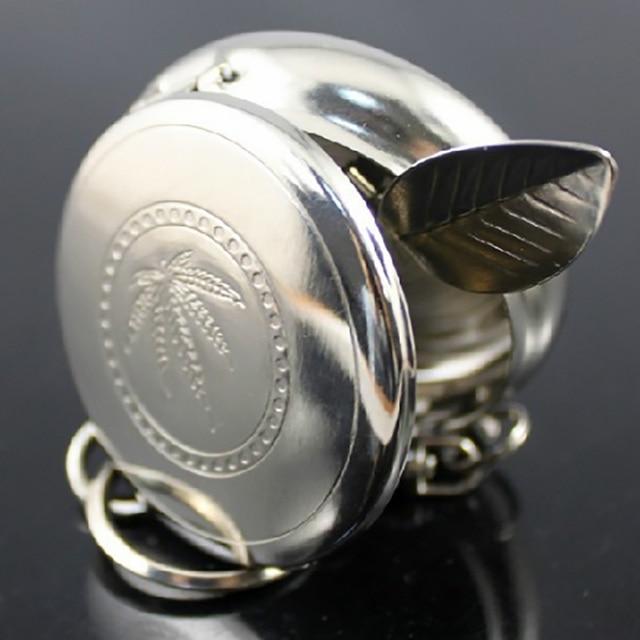 1 pz Utile Pocket Portatile Posacenere In Acciaio Inox Posacenere Sigaretta Roto