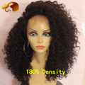 ALYSSA 180% Density Unprocessed Virgin Peruvian Full Lace Wig Glueless Lace Front Wigs Kinky Curly Full Lace Human Hair Wigs
