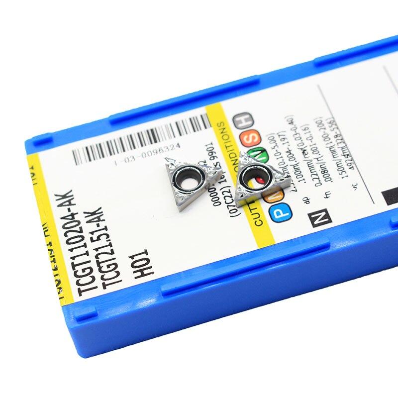 TCGT110204 AK H01 TCGT 110204 Aluminum Cutter Blade Insert Cutting Tool Turning Tool CNC Tools AL +TIN Alloy Wood