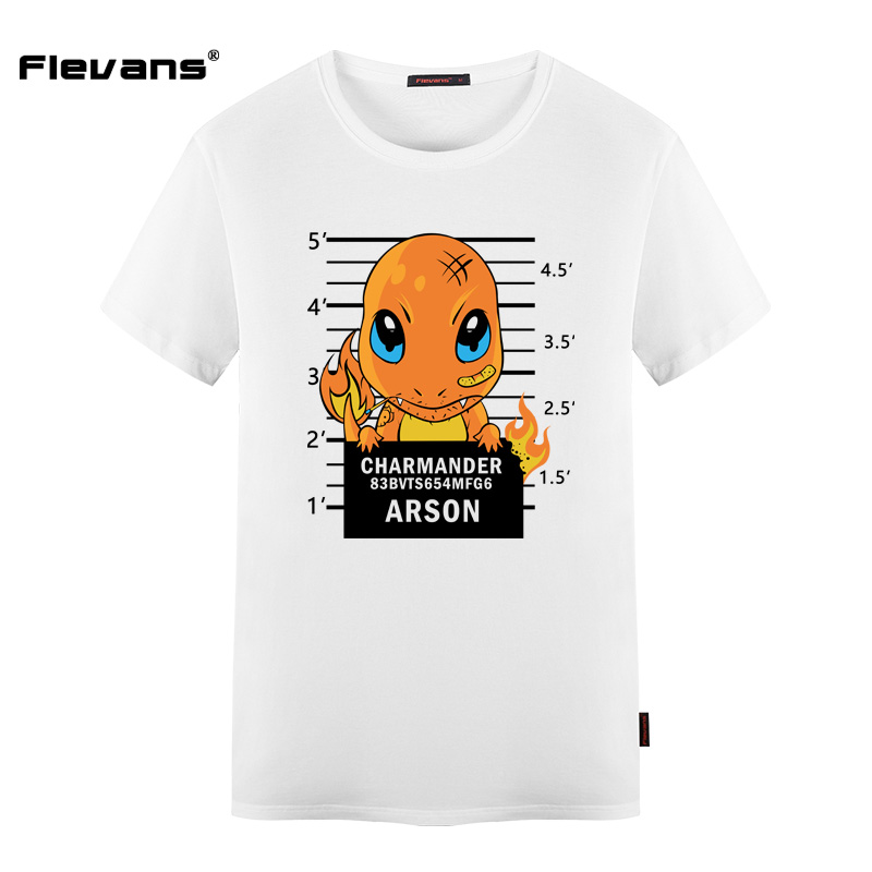b7e21578 ... flevans new funny design mens t shirt brand clothing pikachu; charmander  charmeleon charizard pokemon ...