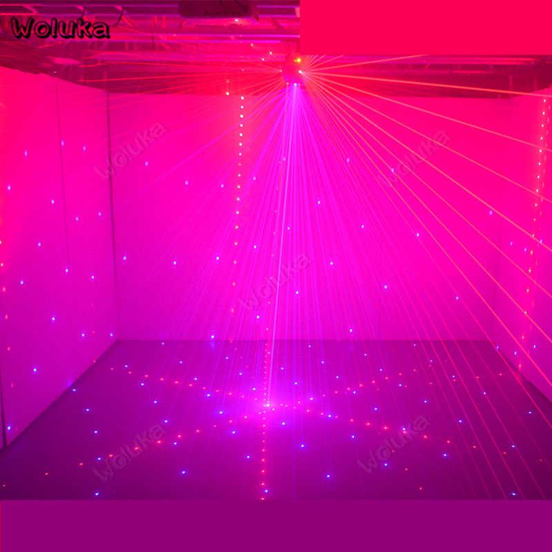 Пористый лазерный шар RGB 12 освещения отверстия лазерный свет интерференционный эффект сценического трехцветный КТВ флэш бар для дискотеки праздничное освещение CD50 W01