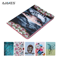 For Apple iPad Air 2 Case Cute Pattern PU Leather Flip Folio Stand Protective Skin For Apple iPad Air 2 2nd iPad 6 w/Stylus Pen