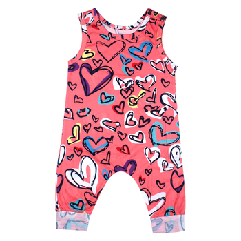 2018 Newborn Baby Boy Girl Romper Clothes Red Sleeveless Jumpsuit Tiny Cottons  Summer Clothing Onesie Costume Outfit