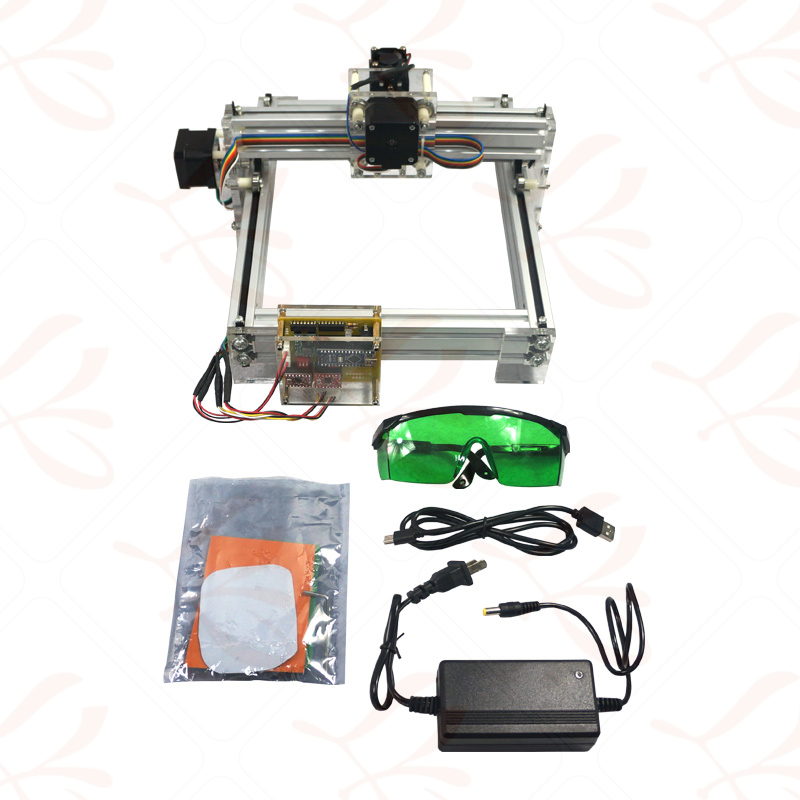LY 2017 1500mw Mini DIY Laser engraving machine for woodworking,can print any pictures your like with your own creativity dk bl 1500mw mini diy laser engraving machine wireless bluetooth print