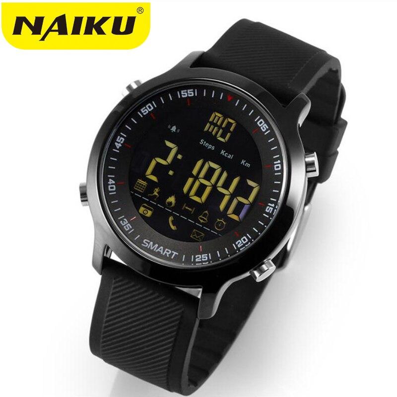 Relógio inteligente EX18 Esporte pedômetros Lembrete Mensagem Bluetooth À Prova D' Água Ao Ar Livre de natação homens smartwatch para Android ios telefone
