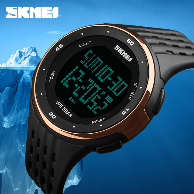 Luxury watch Men Sports Watches 50m Waterproof Digital LED Military Watch Men Sport Outdoor Electronics multifunction WristWatch