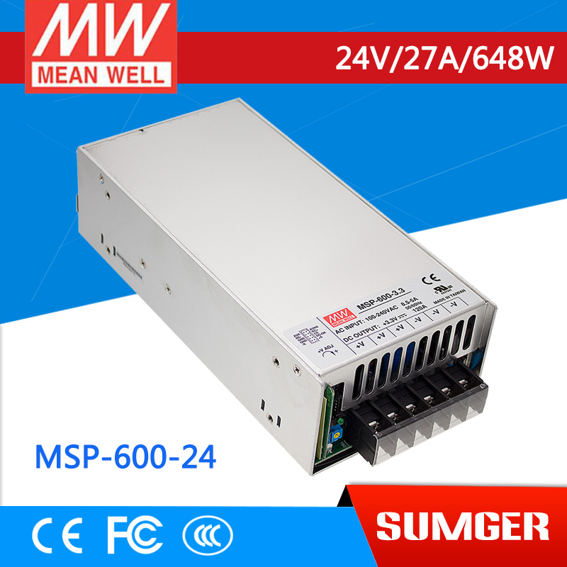 все цены на [Sumger2] MEAN WELL original MSP-600-24 24V 27A meanwell MSP-600 24V 648W Single Output Medical Type Power Supply онлайн