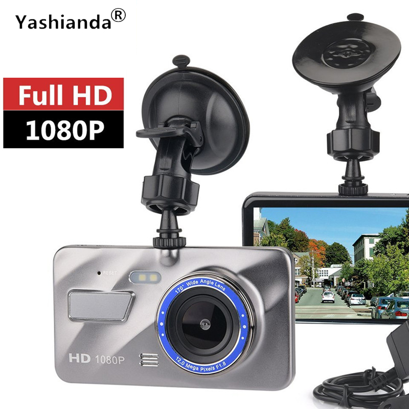 Yashianda Car DVR Camera 4.0 Inch 1080P HD Car Tachograph Car Camera LED Traffic Digital Video Recorder Tachograph Foldable