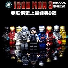 Decool 0160-0168 Avenger Super Heroes Iron Man Minifigure Building Block Toys   Brick Gift