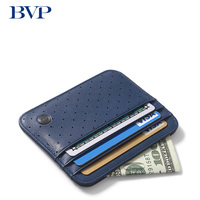 High end Luxury Brand Famous Men Genuine Leather Business Credit Card Holder Fashion ultrathin Small Wallet Good Quality J50