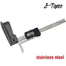 0-150mm 0.01mm mini calibre de altura digital de aço inoxidável fibra de carbono eletrônica marcação medida scriber vernier caliper