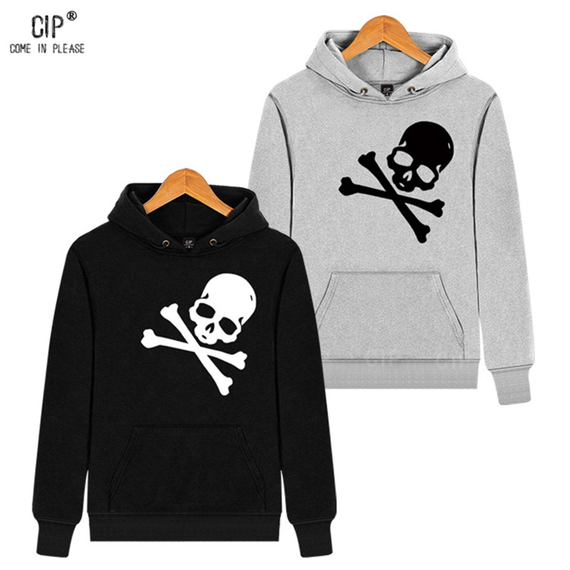 Terry for Spring Skull Hoodies Pullover 100%Cotton Skeleton Hooded ...