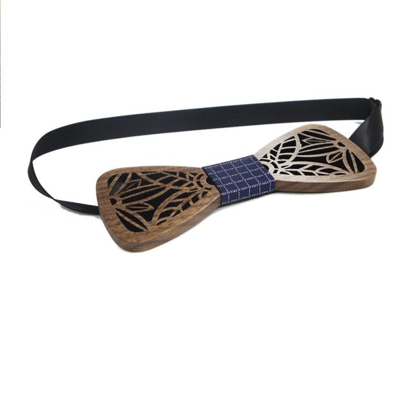 New Fashion Hollow Wood Bow Ties For Men Wedding Suits Wooden Bow Tie Butterfly Shape Bowknots Gravatas Slim Cravat X3