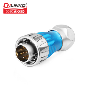 Image 2 - Cnlinko Metal Shell Medical Ship Car Electrical Plug Sockets IP67 Industrial Connector 10 Pin 10A 500V Waterproof M24 Connector