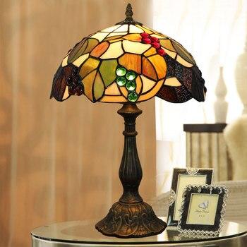 new  retro glass bedroom bedside table lamp fashion wine restaurant hotel decorative lamp