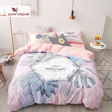 SlowDream Fitted Sheet Flat Sheet Set Duvet Cover Double Queen Bedspread Bed Linen Cotton Nordic Single Decor Home Beding Set стоимость