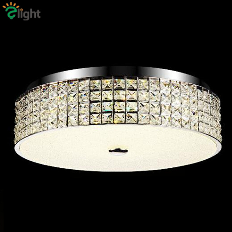 Modern Simple Chrome Metal Led Ceiling Lights Lustre Crystal Bedroom Dimmable Led Ceiling Lamp Foyer Led Lighting Light Fixtures недорго, оригинальная цена
