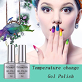 New Arrival Temperature Change Gel Nail Polish DIY Nail Art Salon Gel Of Nail  8ML1Pcs Soak Off Gel Lucky Gouserva