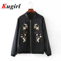 European Style Women Bamboo Jacket Coat 3D Plum flower Embroidery Long Sleeve Stand Collar Casual Women Jacket Coat