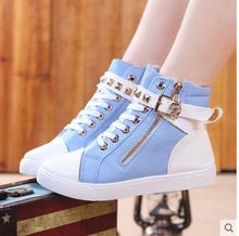 boot Girls sandals autumn new baby canvas shoes high help children between cuhk students children's leisure sports shoes