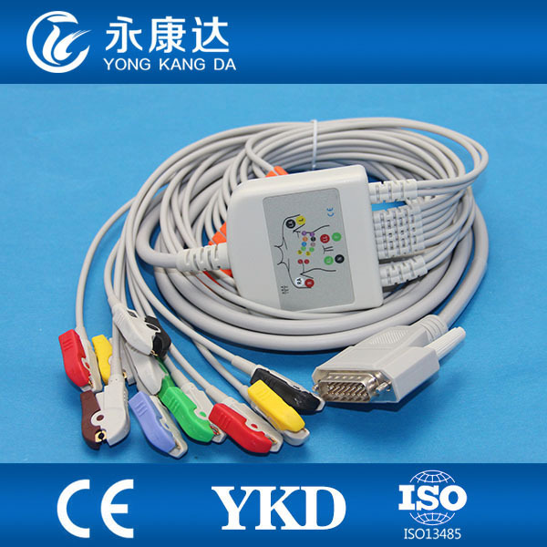 Nihon kohden 12 leads ekg cable with Clip,IECNihon kohden 12 leads ekg cable with Clip,IEC