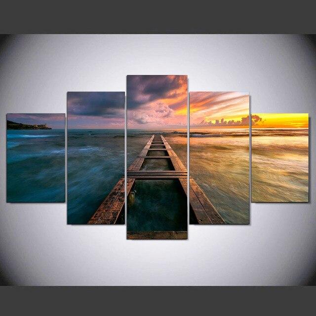 5 Panel Moderne Toskana Hd Kunstdruck Leinwand Kunst Wand Gerahmte Gemlde Fr Wohnzimmer Wandbild